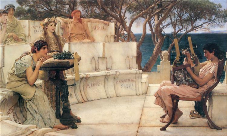 Sappho and Alcaeus, 1881 - Sir Lawrence Alma-Tadema