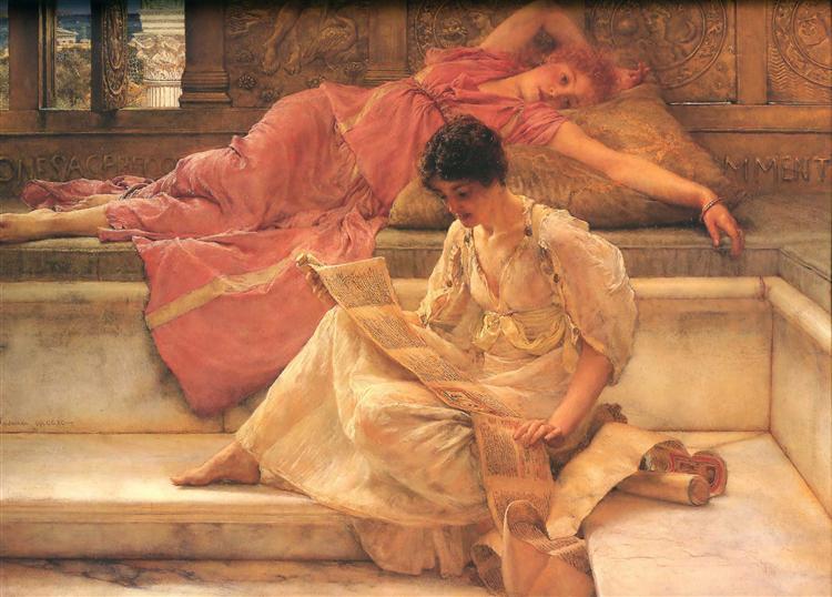 Favourite Poet, 1888 - Sir Lawrence Alma-Tadema