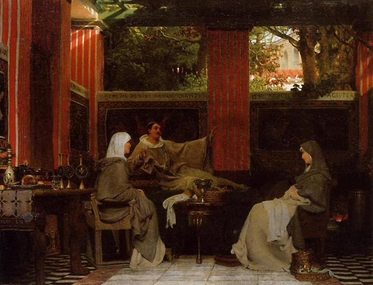 Venantius Fortunatus Reading His Poems to Radegonda VI, 1862 - Sir Lawrence Alma-Tadema