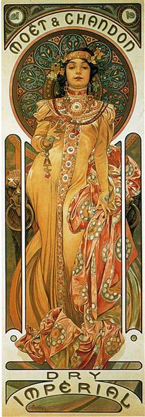 Chandon Cremant Imperial, 1899 - Alphonse Mucha