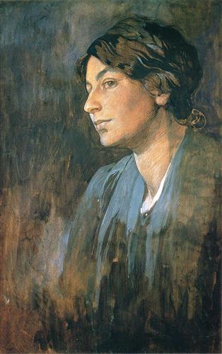 Portrait of Marushka, Artist s Wife - Alphonse Mucha