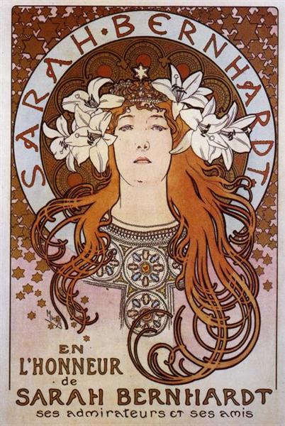 Sarah Bernhardt, 1896 - Alphonse Mucha
