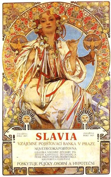 Slavia - Alphonse Mucha