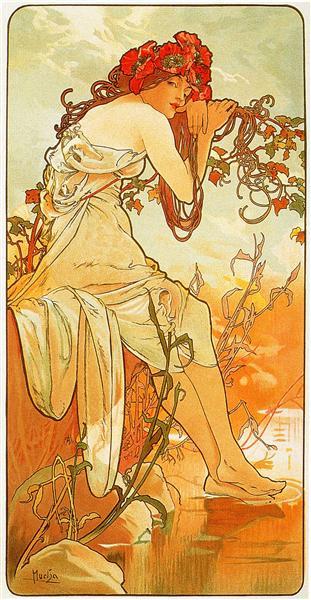 Summer - Alphonse Mucha