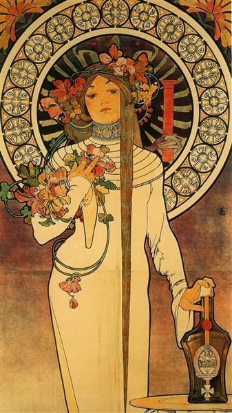 The Trappistine, 1897 - Alphonse Mucha