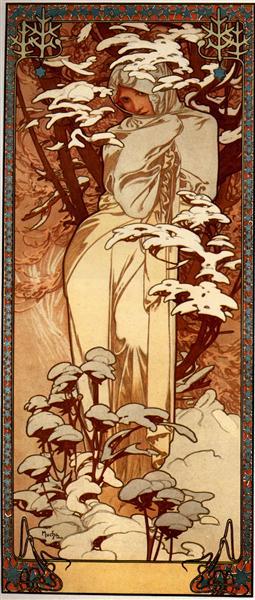 Winter, 1897 - Alphonse Mucha