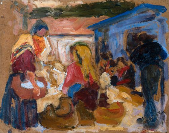 Village Market in Cardoso, 1905 - Amadeo de Souza-Cardoso
