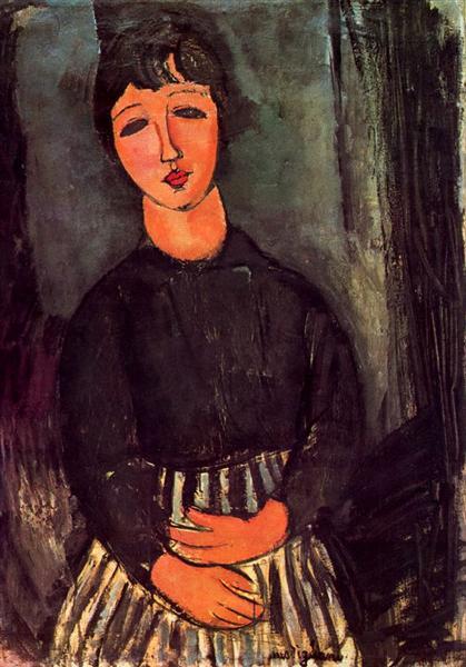 A young girl, 1916 - Amedeo Modigliani