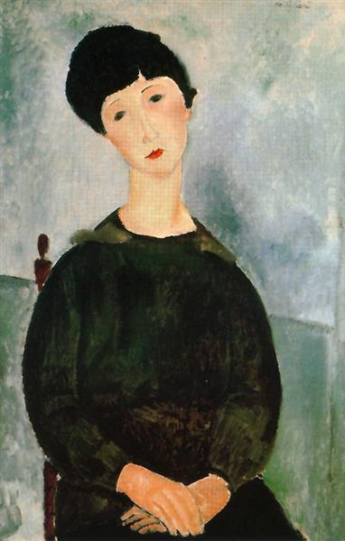A young girl, 1918 - Amedeo Modigliani