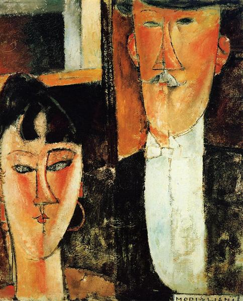 Bride and Groom (The Couple), c.1915 - Amedeo Modigliani