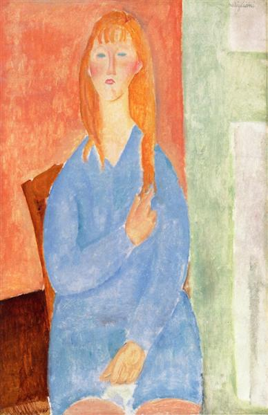 Girl in Blue, 1919 - Amedeo Modigliani