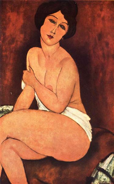 Large Seated nude, 1917 - Amedeo Modigliani