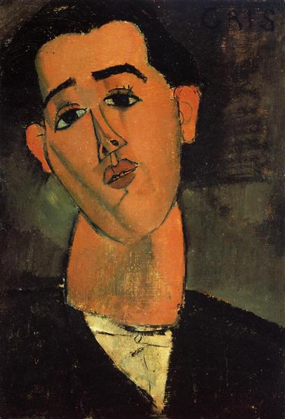 Portrait of Juan Gris, 1915 - Amedeo Modigliani