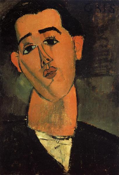 Portrait of Juan Gris - Modigliani Amedeo