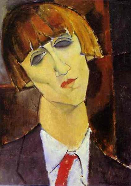 Portrait of Madame Kisling, c.1917 - Amedeo Modigliani