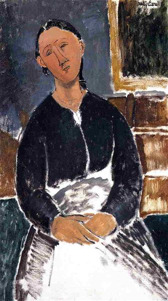Serving Woman (also known as La Fantesca), 1915 - Amedeo Modigliani