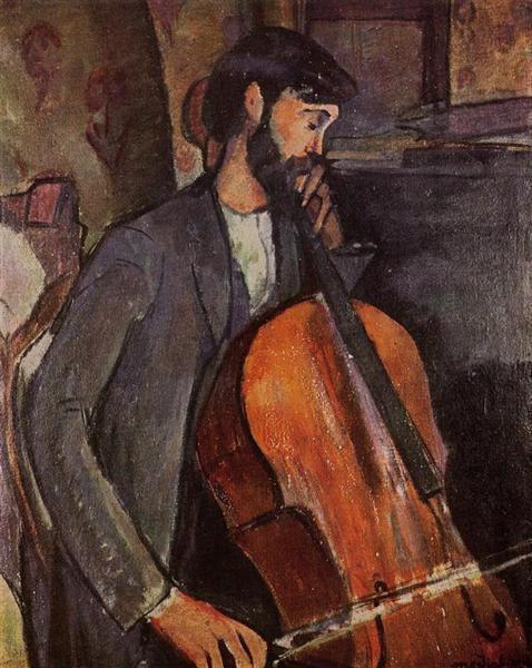 Study for The Cellist, 1909 - Amedeo Modigliani