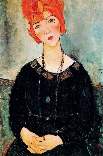 Woman With a Necklace, 1917 - Amedeo Modigliani
