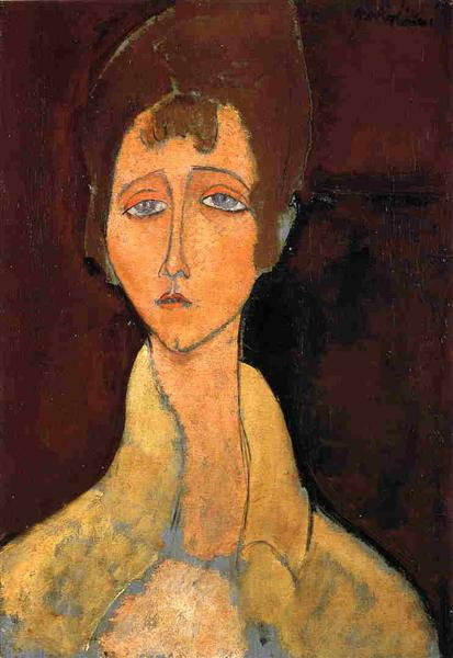 Woman with White Coat, 1917 - Amedeo Modigliani
