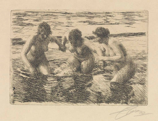 Against The Current, 1919 - Anders Zorn