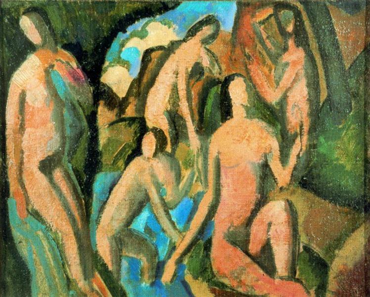 Bathing women, c.1908 - Andre Derain