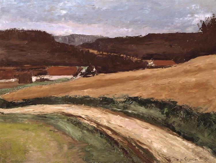 The Farm on the Estate, 1923 - Andre Dunoyer de Segonzac