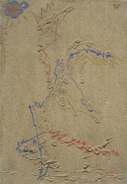 Star, Winged Being, Fish, 1955 - Андре Массон