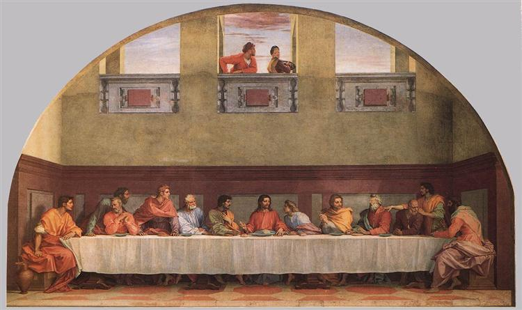 The Last Supper (detail), 1520 - 1525 - Andrea del Sarto