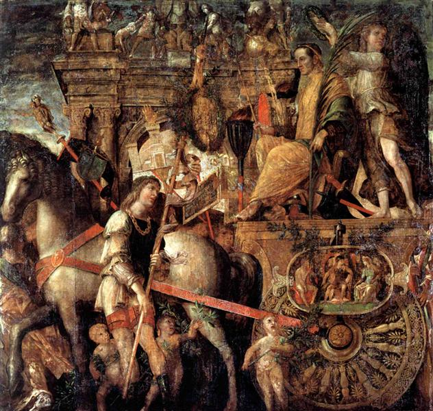 Julius Caesar on a triumphal car, 1490 - 1506 - Andrea Mantegna