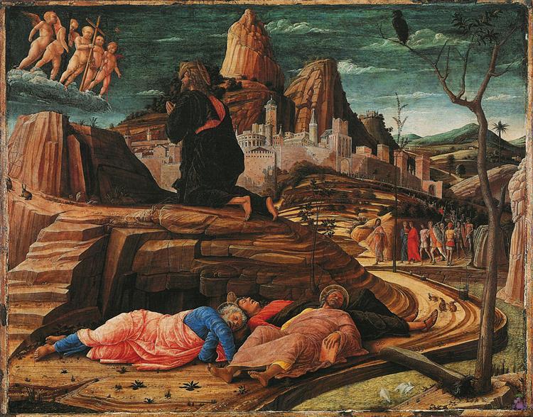 The Agony in the Garden, 1455 - Andrea Mantegna