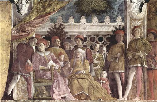 The court of the Gonzaga - Andrea Mantegna