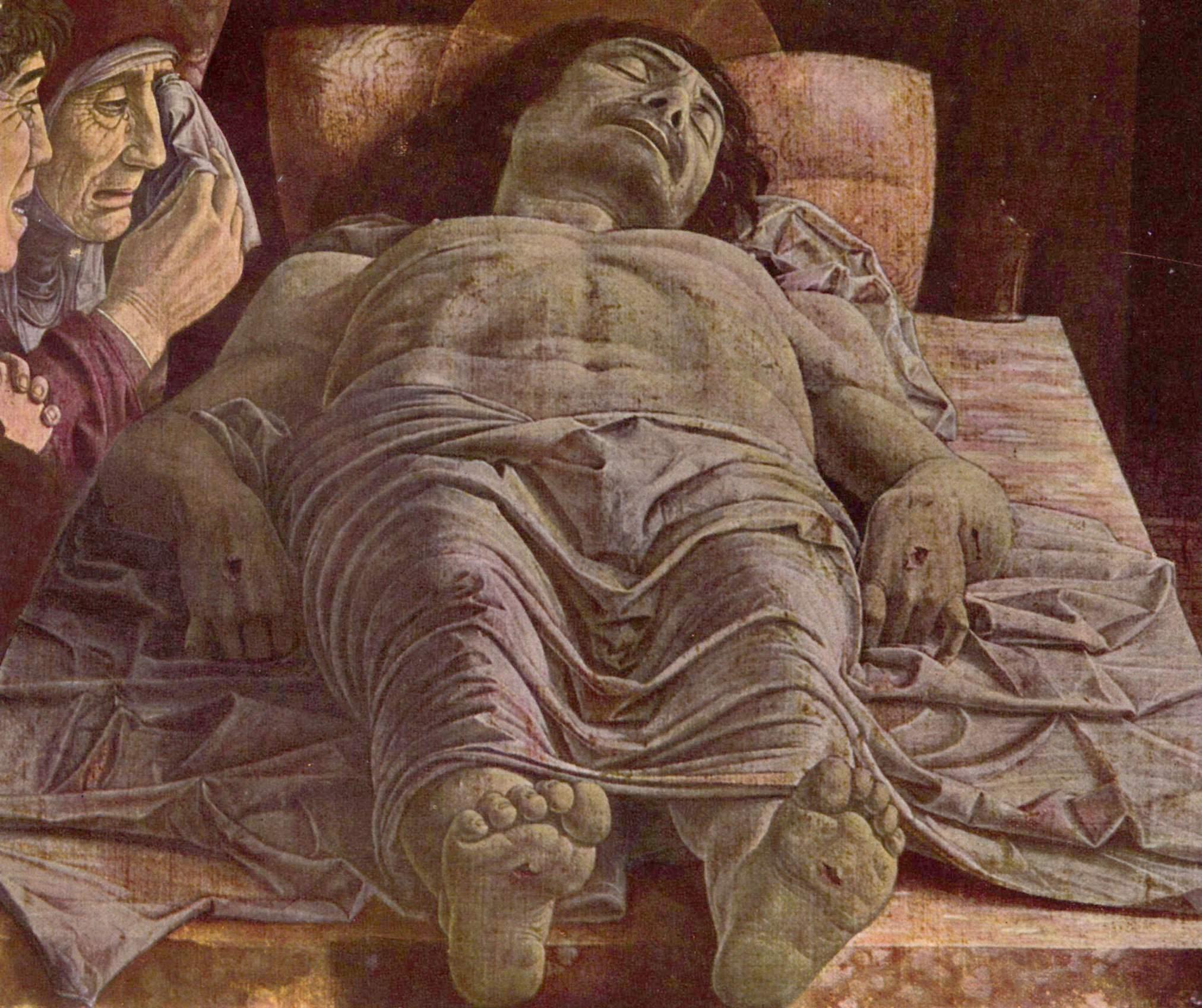 the dead christ lamentation of christ andrea mantegna