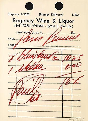 Paris Review Poster - Andy Warhol