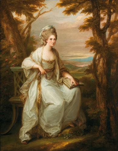 Portrait of Anne Loudon, Lady Henderson of Fordall - Angelica Kauffman
