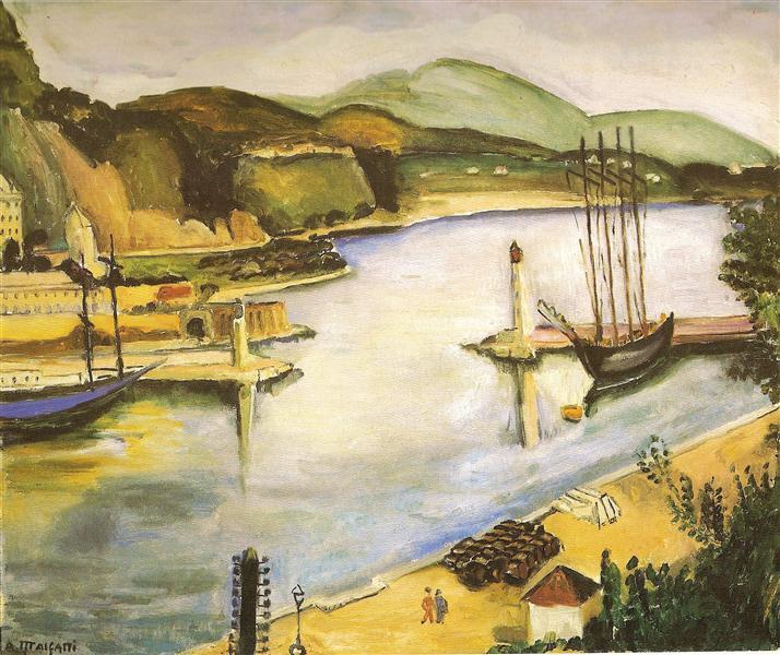 Porto de Mônaco, 1926 - Anita Malfatti
