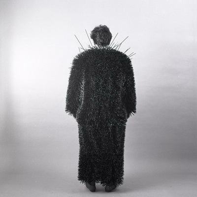body object series #17 toothpick suit, 1984 - Ann Hamilton
