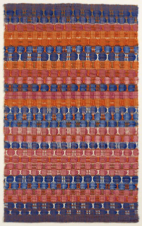 Red and Blue Layers, 1954 - Anni Albers