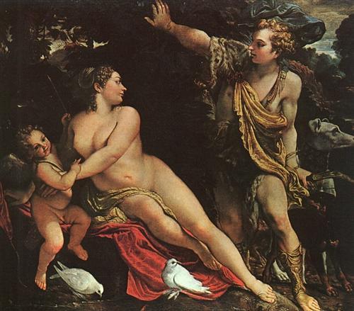 Venus, Adonis, and Cupid - Annibale Carracci