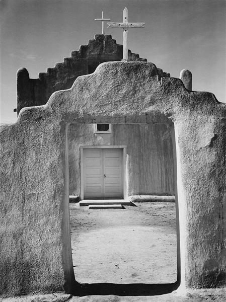 Church, Taos Pueblo - Ansel Adams