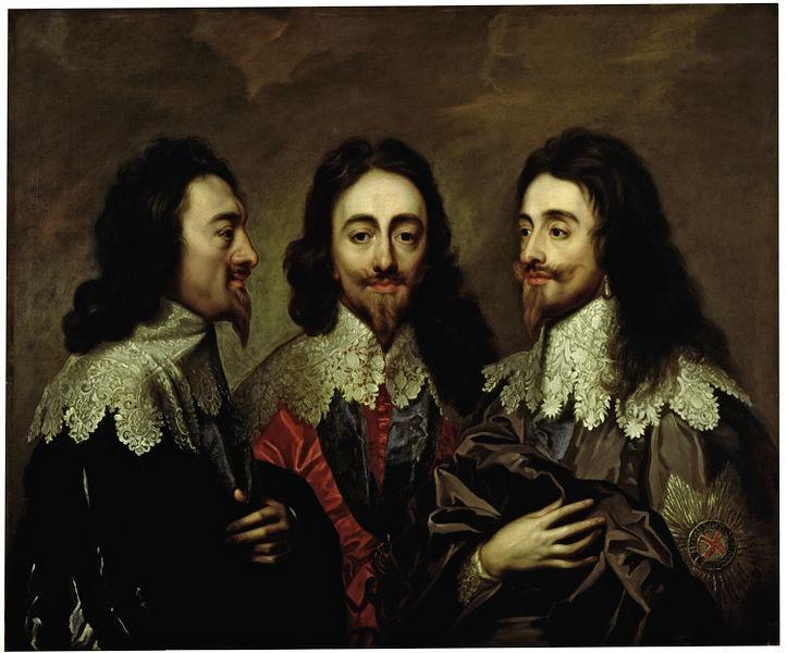 Triple retrato de Carlos I, 1635 - 1636 - Anton van Dyck