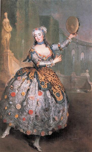 Portrait of the dancer Barbara Campanini aka La Barbarina, c.1745 - Antoine Pesne
