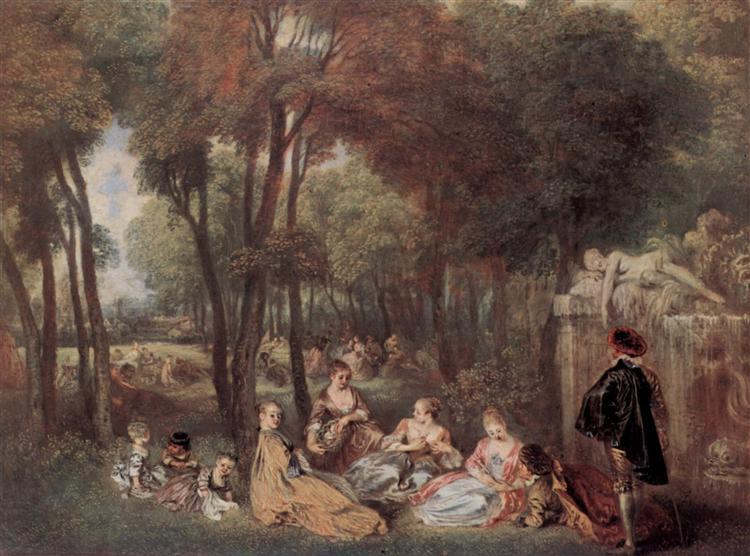 The Champs Élyssées, c.1716 - c.1717 - Antoine Watteau
