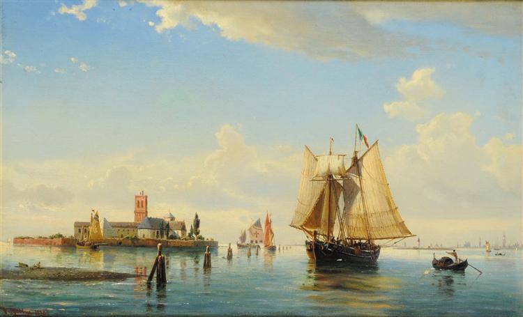 Laguna di Venezia, 1878 - Anton Melbye
