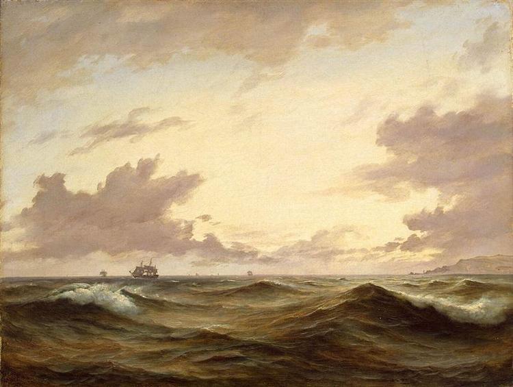 Seascape, 1843 - Anton Melbye
