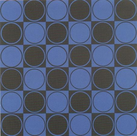 Carre bleu et noir, 1980 - Antonio Asis