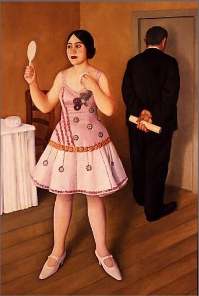 La canzonettista, 1925 - Antonio Donghi
