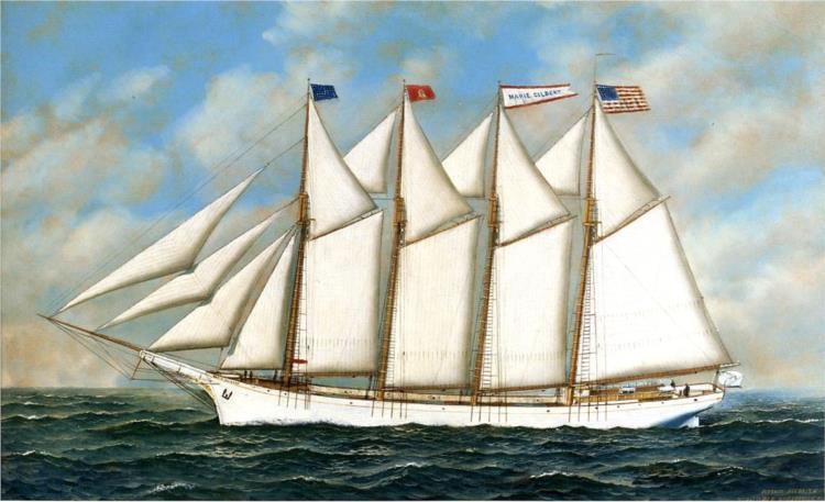 Schooner 'Marie Gilbert', 1907 - Антонио Якобсен