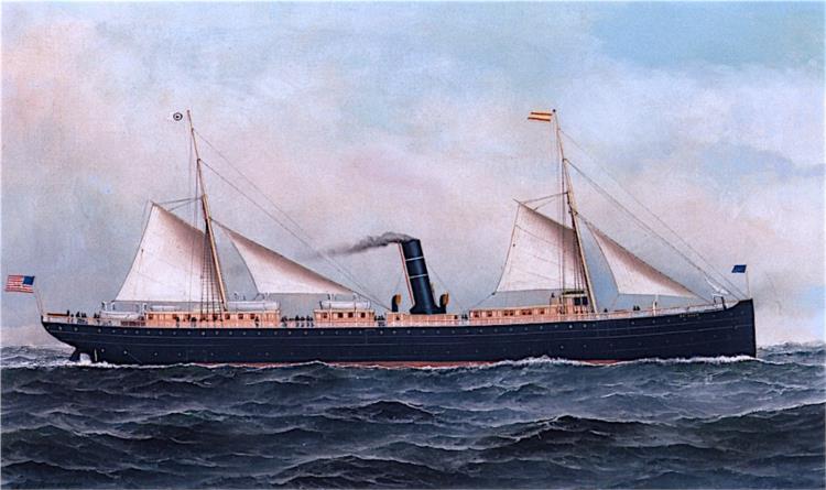 The S. S. Orizaba at Sea, 1895 - Антонио Якобсен