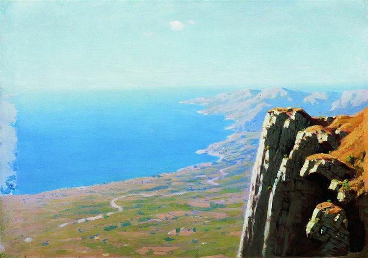 Coast of the sea with a rock, c.1908 - Arkhip Kuindzhi