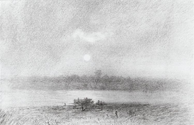Moonlight Night on the River - Arkhip Kuindzhi